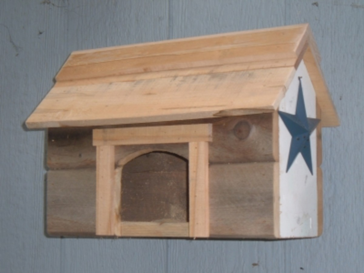 Rustic Nest Box Made From Salvaged Wood
