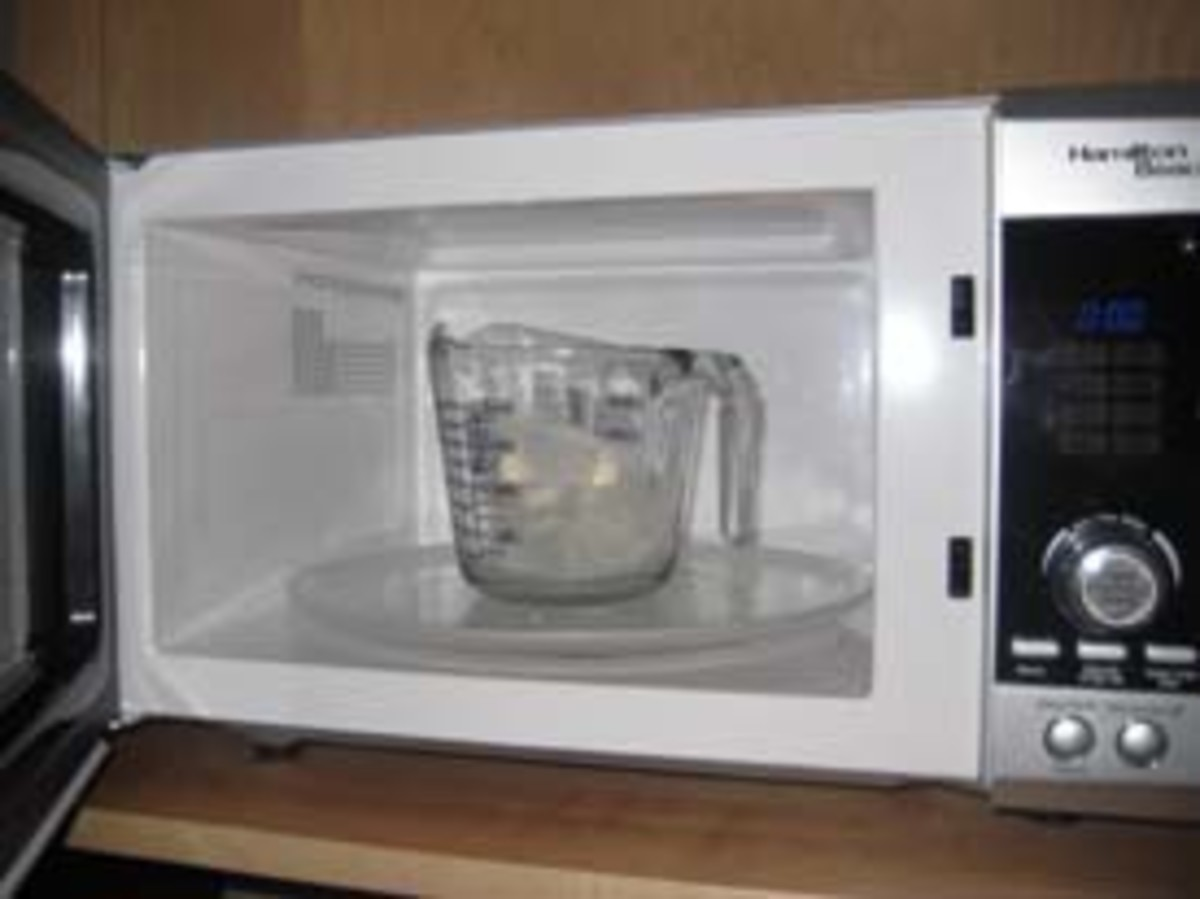Melting soap in the microwave is so simple.