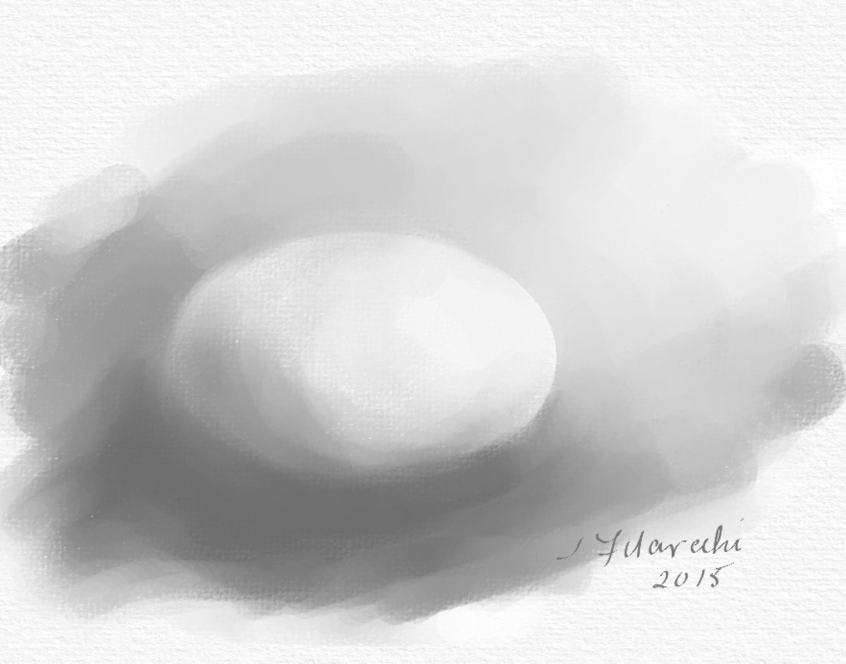 Value painting of an egg