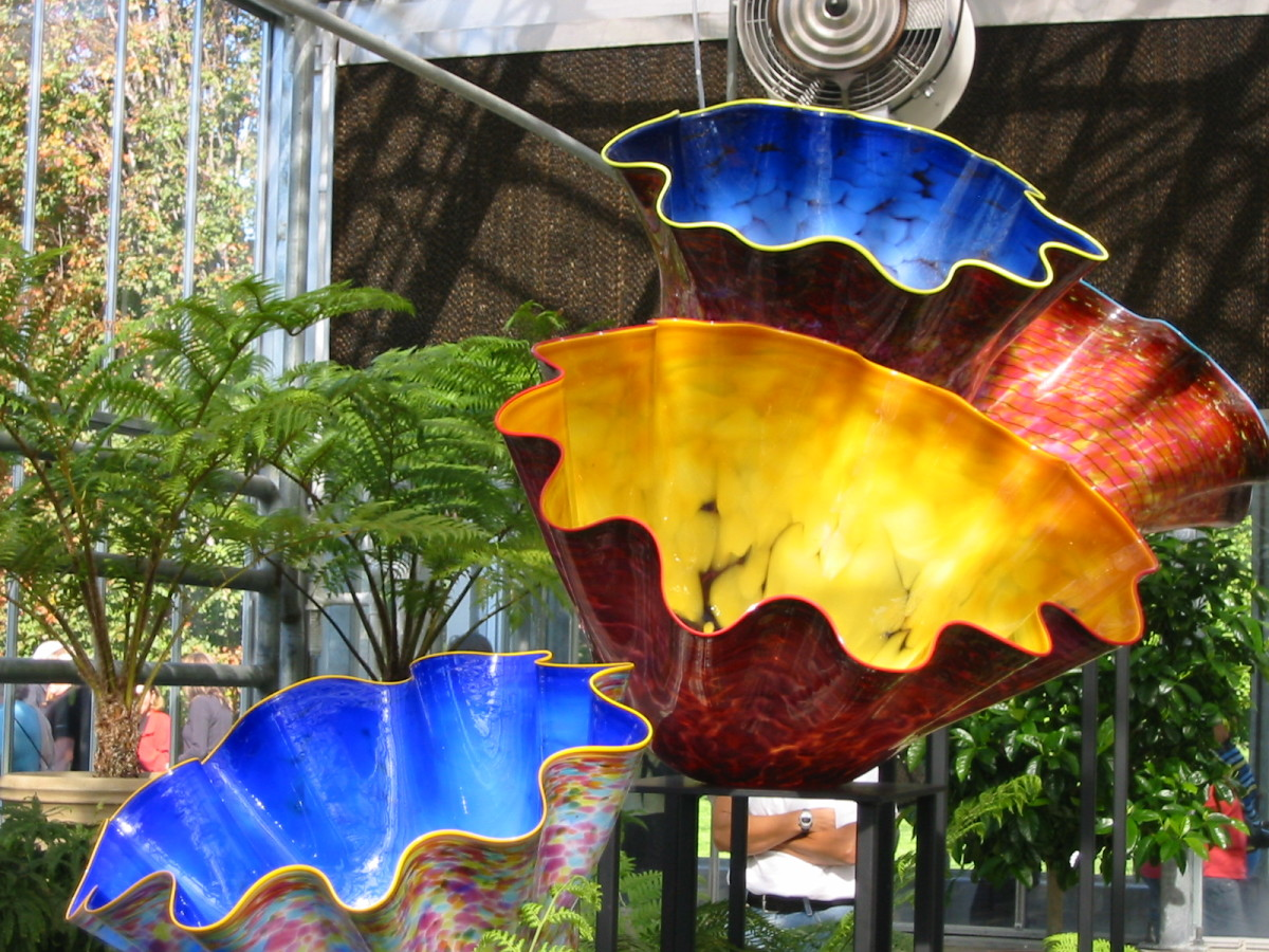 Chihuly Glass Sculptures At The Bronx Botanical Garden