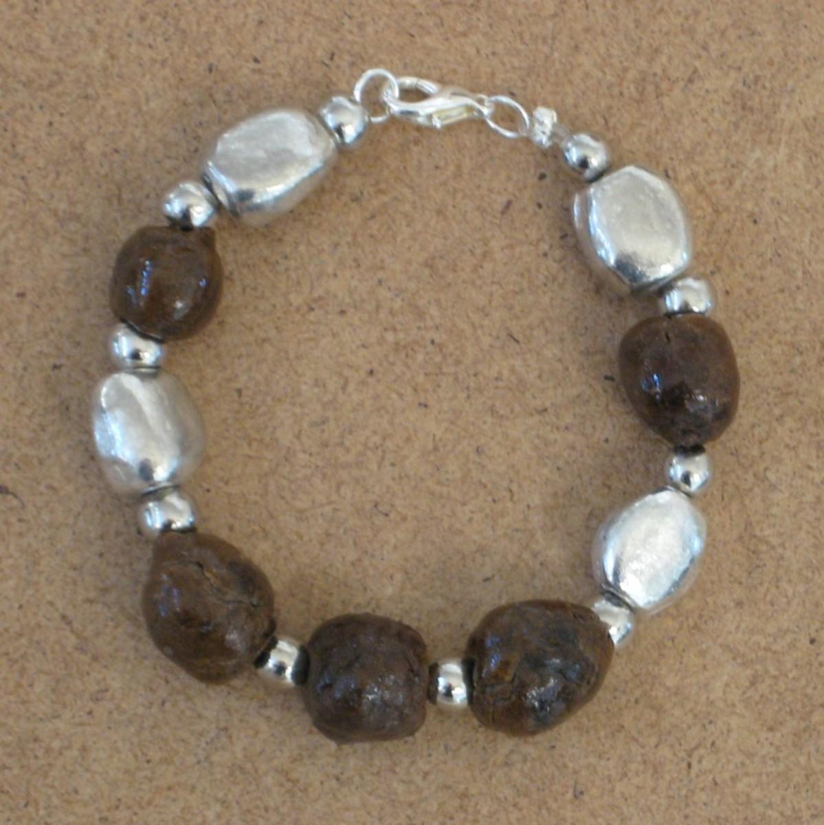 Rose petal bead bracelet by KT