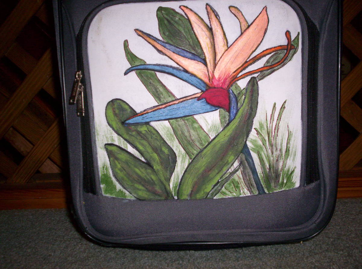 This flower is very easy to draw and paint.  I love the Bird of Paradise.