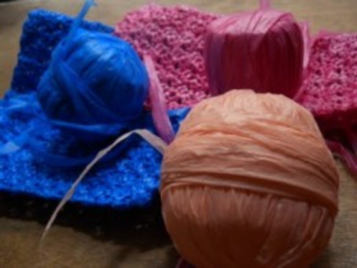 Plarn is colorful and can make some lovely projects.