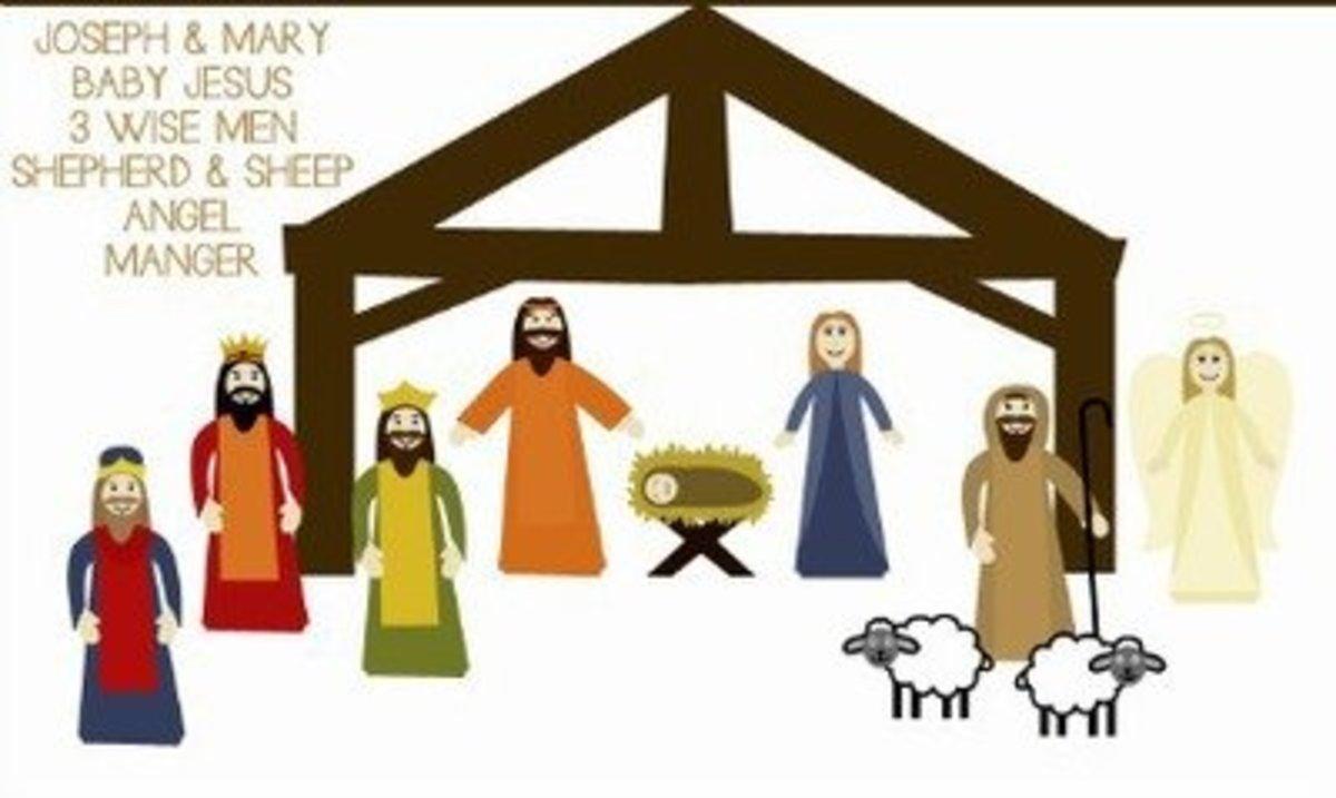 photograph about Printable Nativity Scene Patterns identify 40 Eye-catching Nativity Craft Plans FeltMagnet
