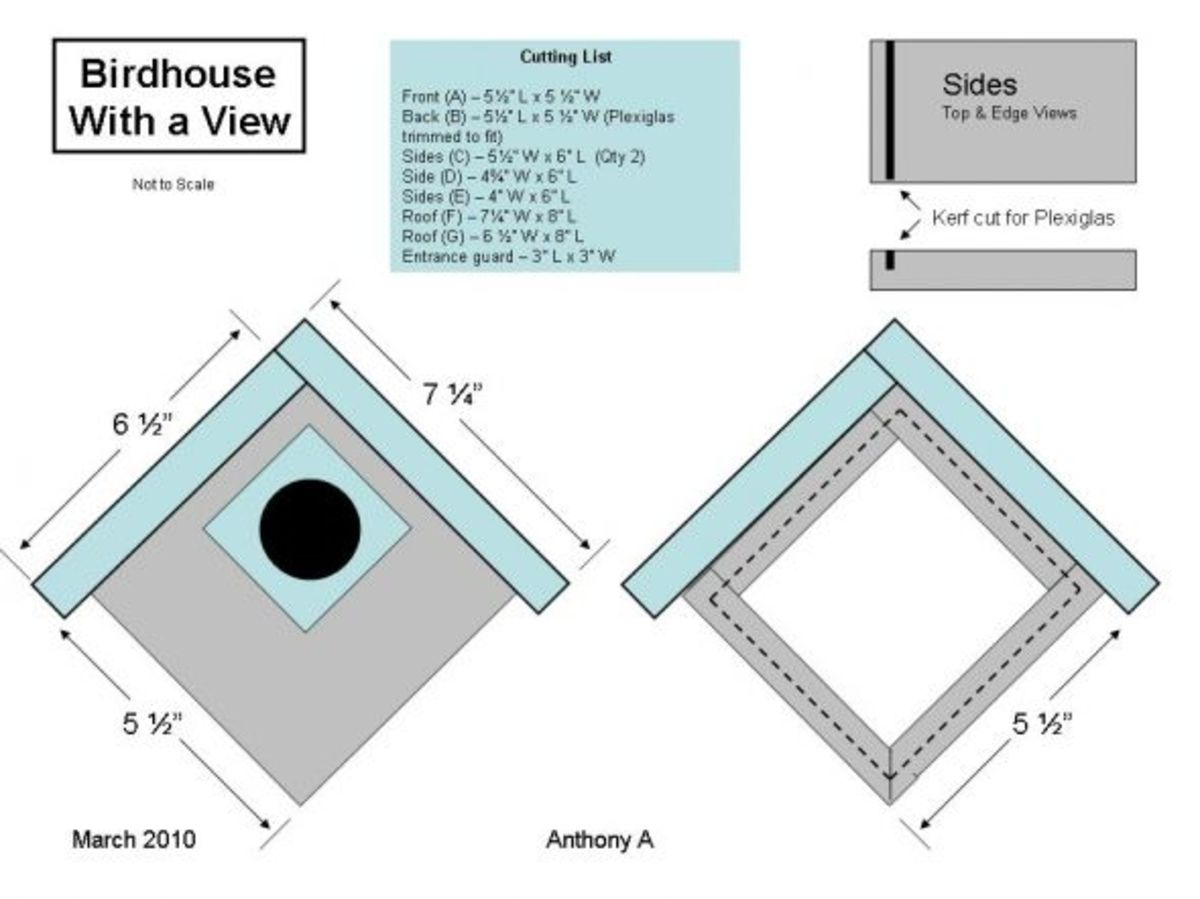 Birdhouse with a View Plans