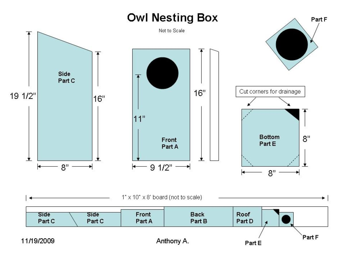 Owl Nesting Box uk Owl Nesting Box Plans