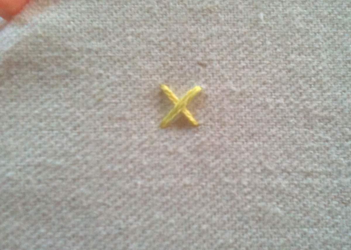 Figure 1 (Make a Star Stitch)
