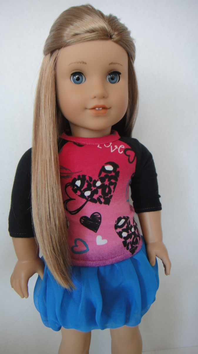 How To Sew A No Pattern Bubble Skirt For American Girl