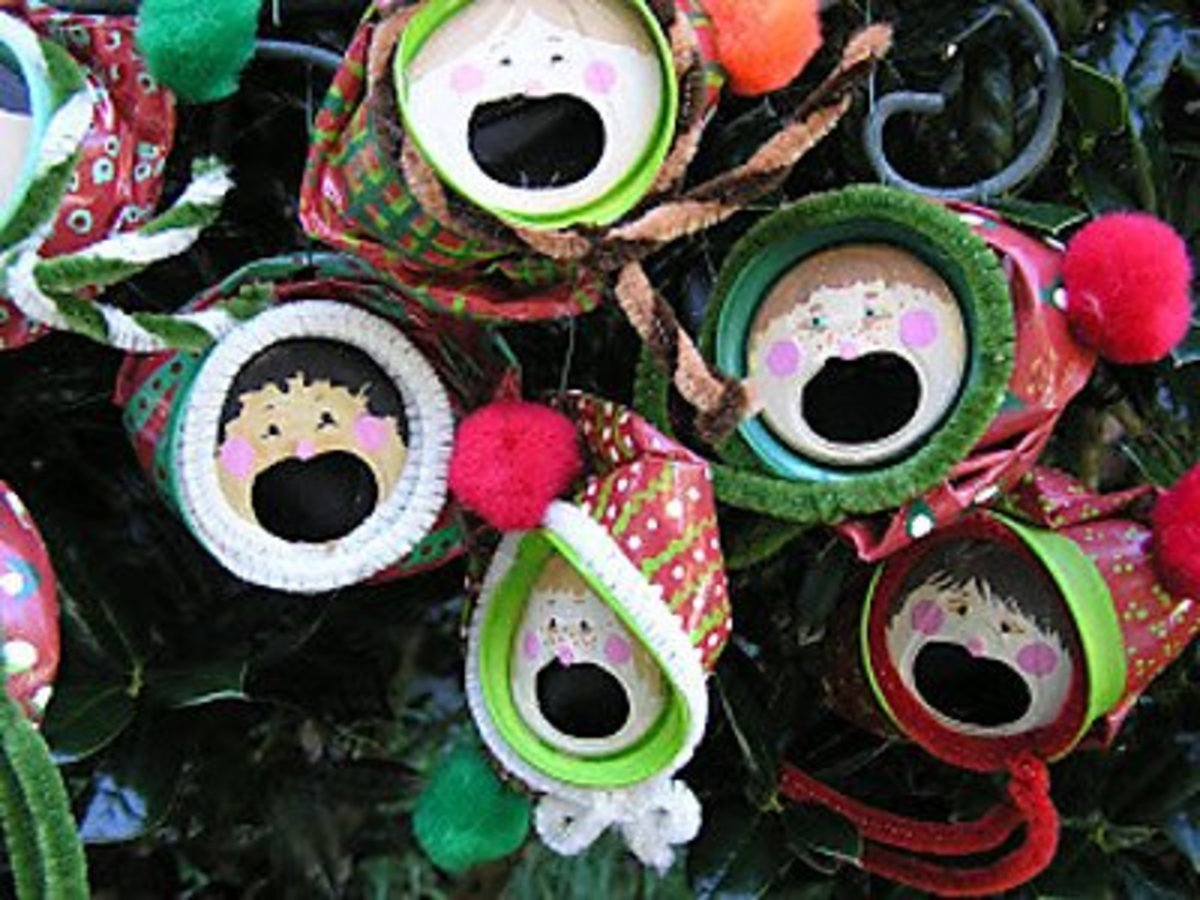 37 awesome aluminum can crafts to make feltmagnet for Christmas crafts out of tin cans