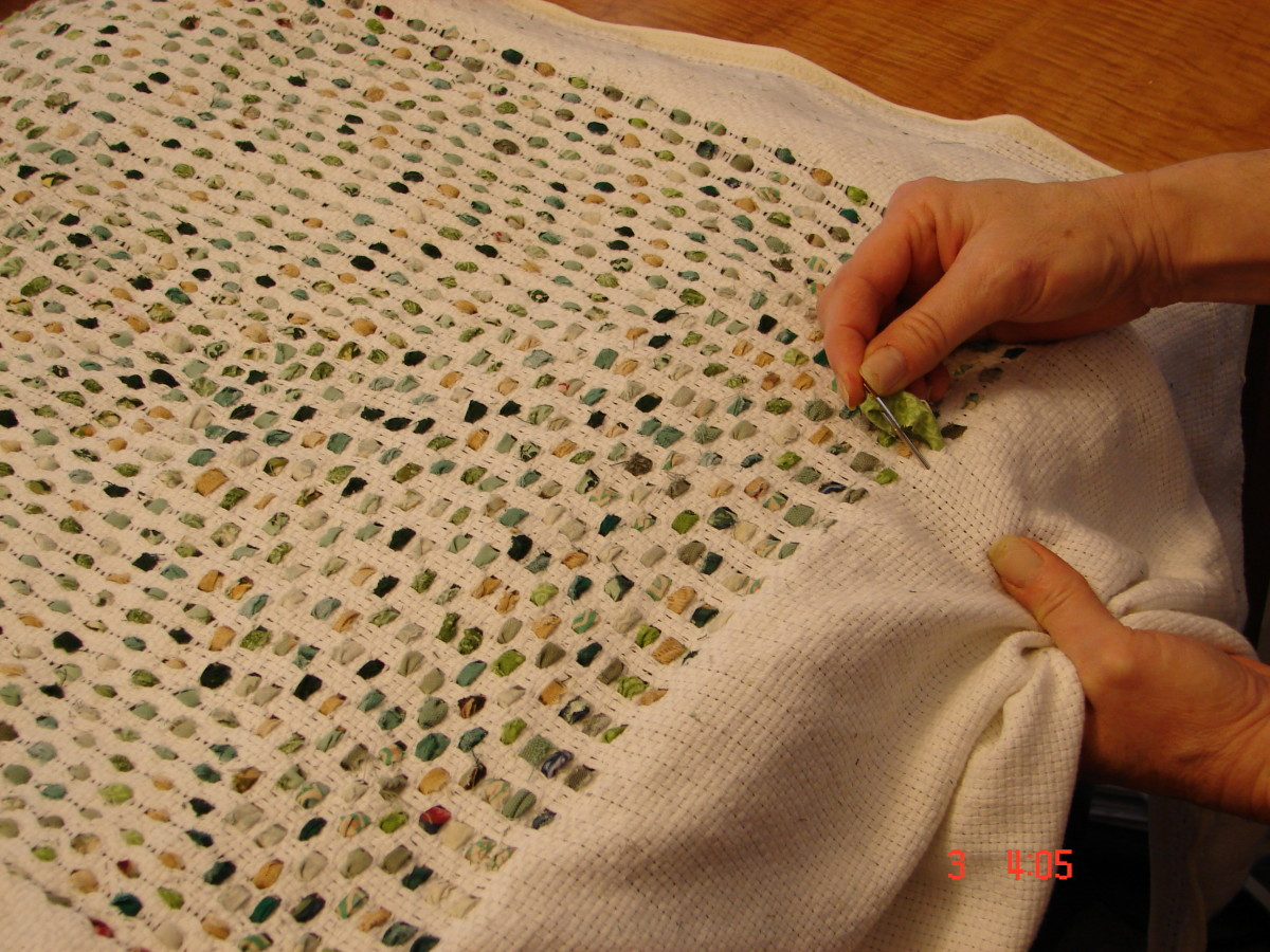 How To Make Shag Rag Rugs