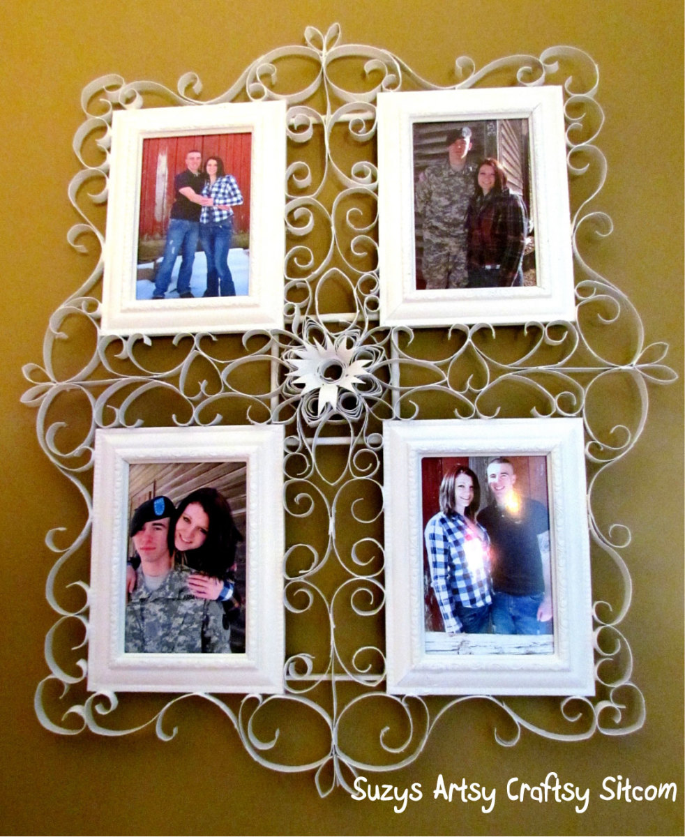 faux metal filigree frame