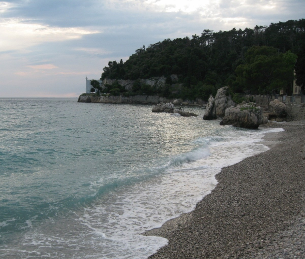 Sea view in Trieste, Italy