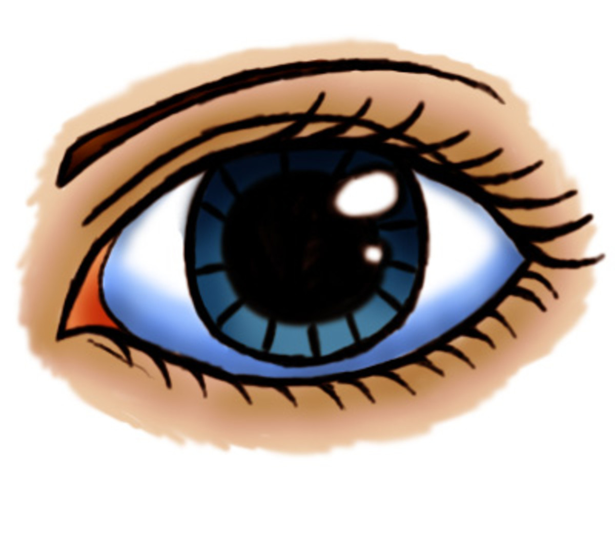 I decided to color the eye in. If you're in to that sort of thing, I'll be making more tutorials involving coloring things in and the likes!