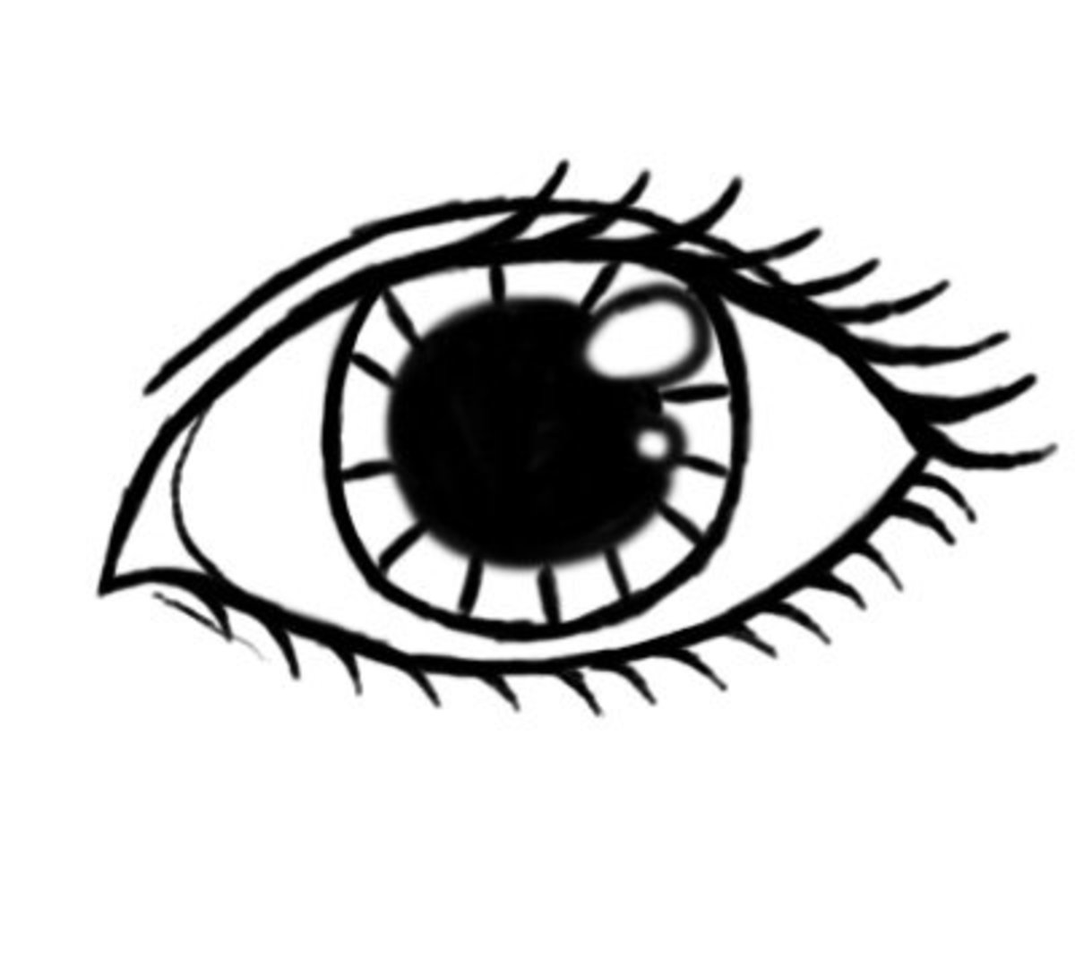 Draw in some eye lashes! :)
