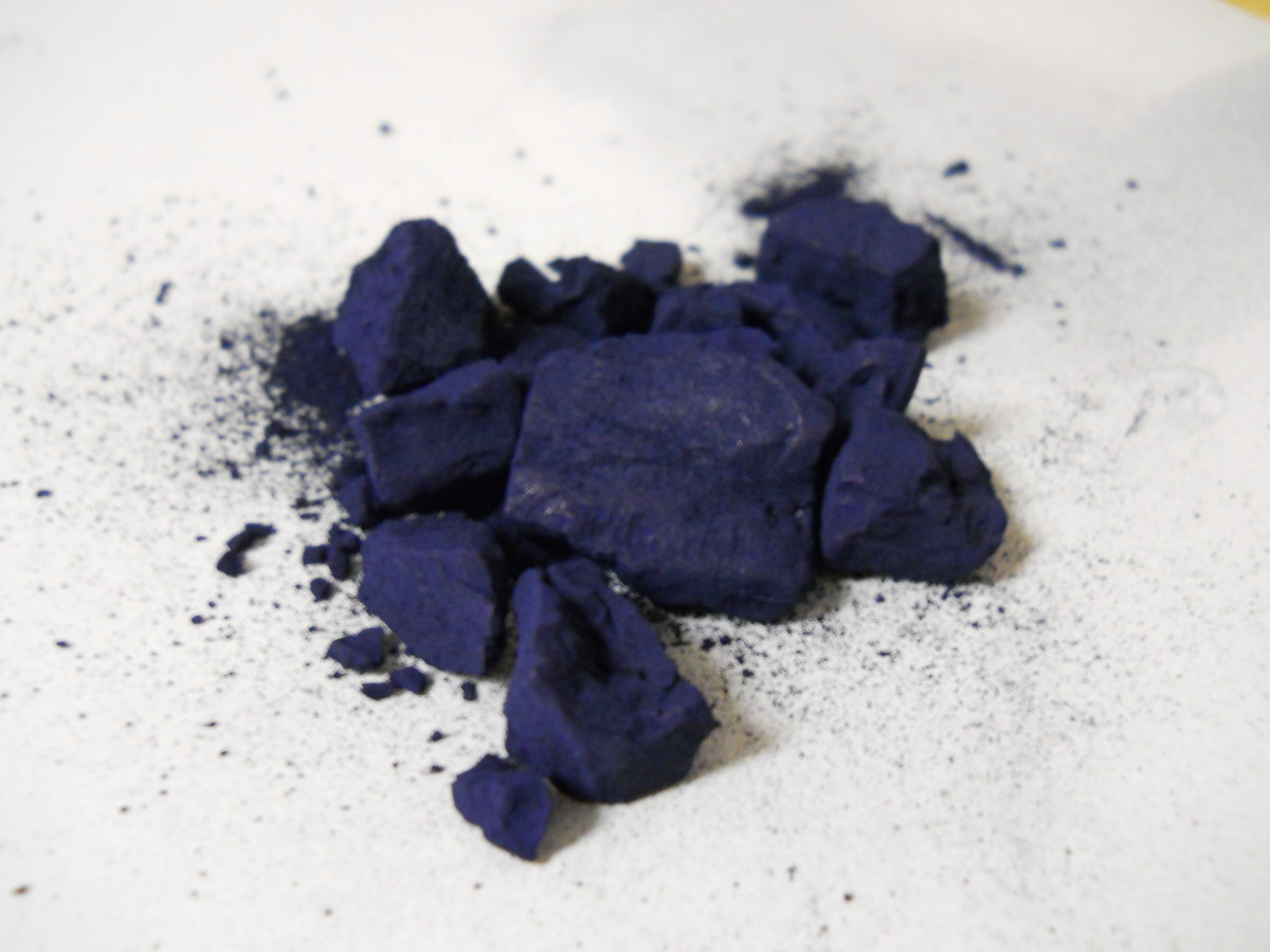 Chunked natural indigo