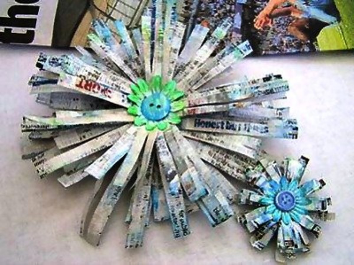 59 Amazing Crafts Using Newspaper Feltmagnet