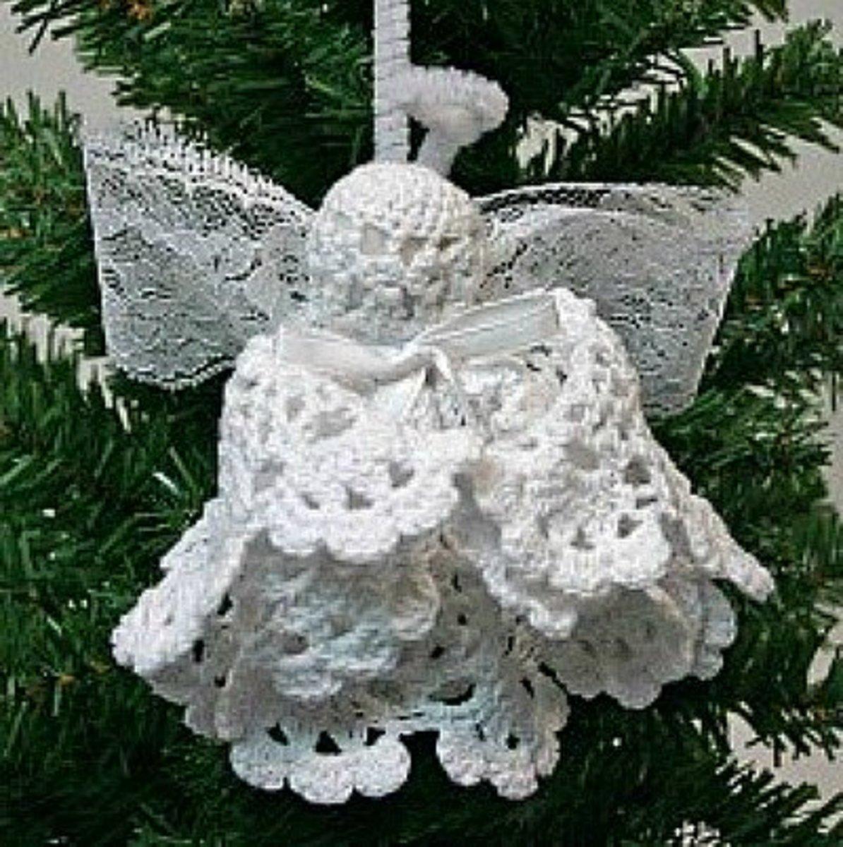 42 beautiful doily craft ideas feltmagnet christmas angel ornament solutioingenieria Images