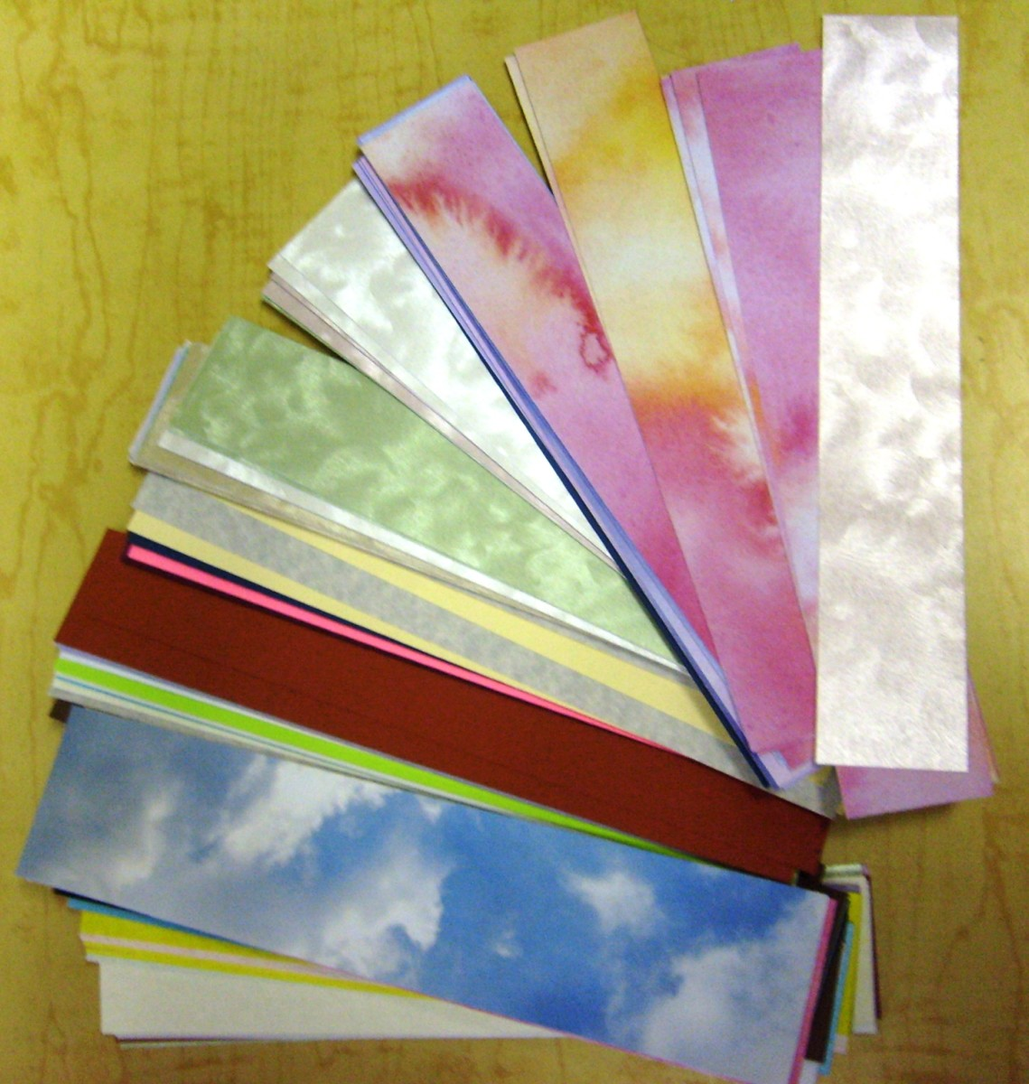 There are a variety of cardstock options to choose from.  Be certain you choose one that is acid free.