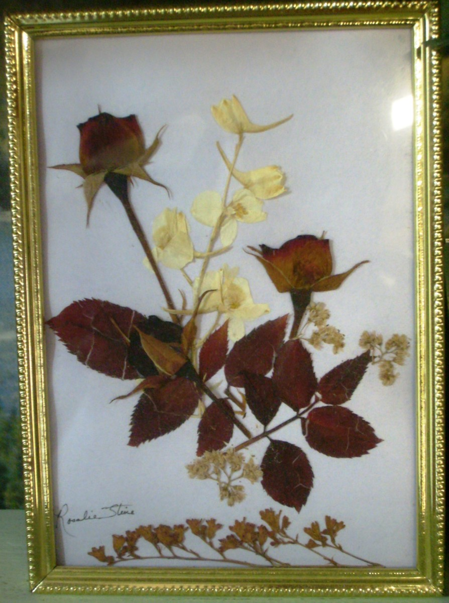 Decorative bouquet's can be made and framed or used to make homemade greeting cards if laminated.