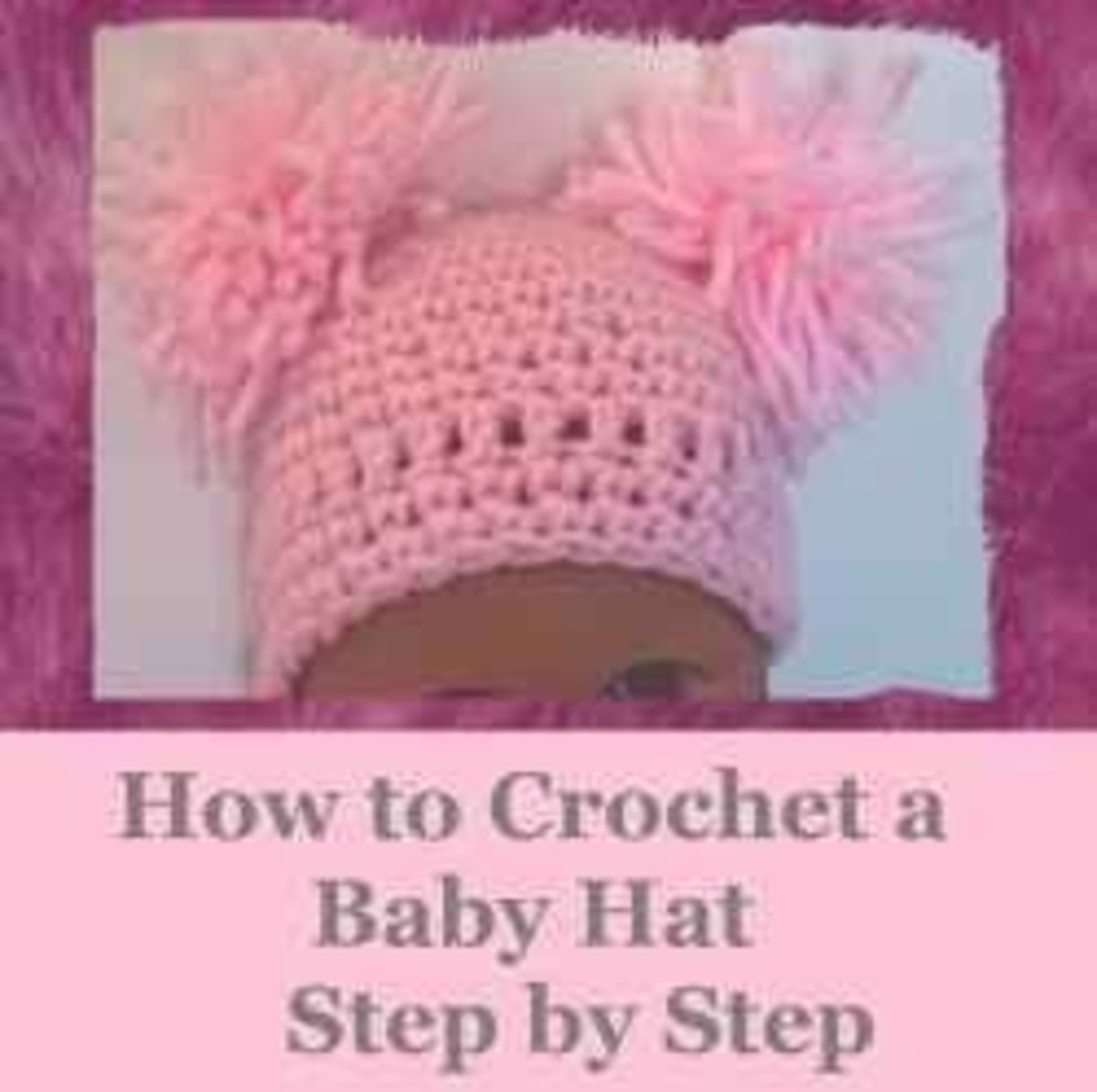 How to crochet a baby hat step by step with this free pattern