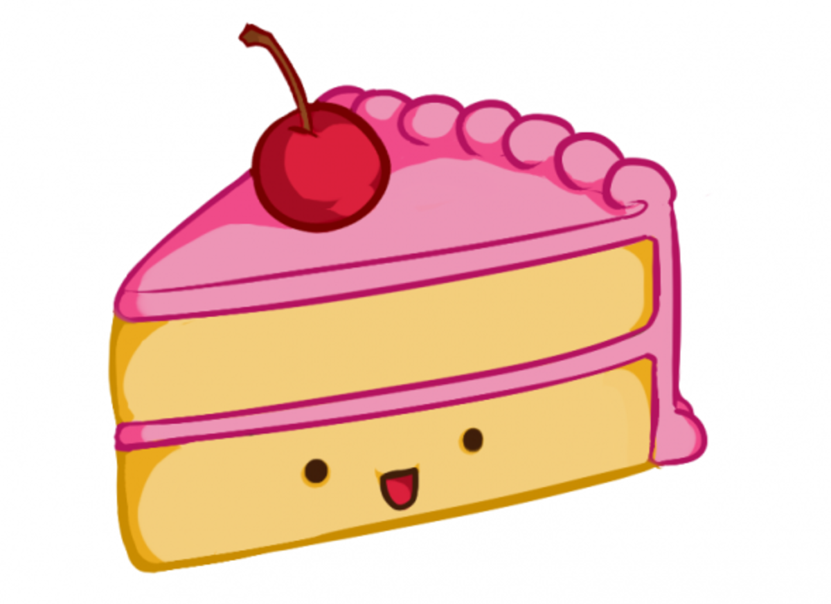 Cake Drawing Clip Art : Drawing a Kawaii Cute Cake Slice