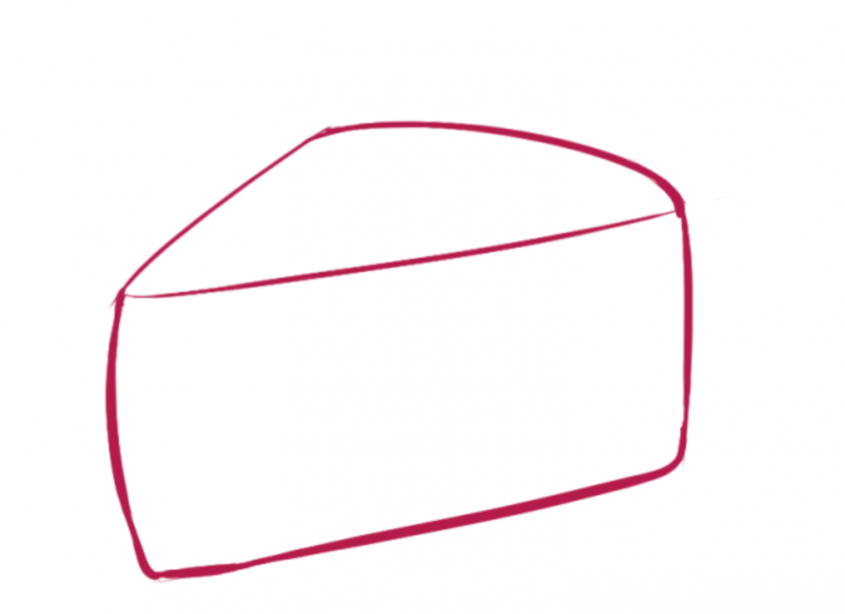 How to Draw Cake Step One