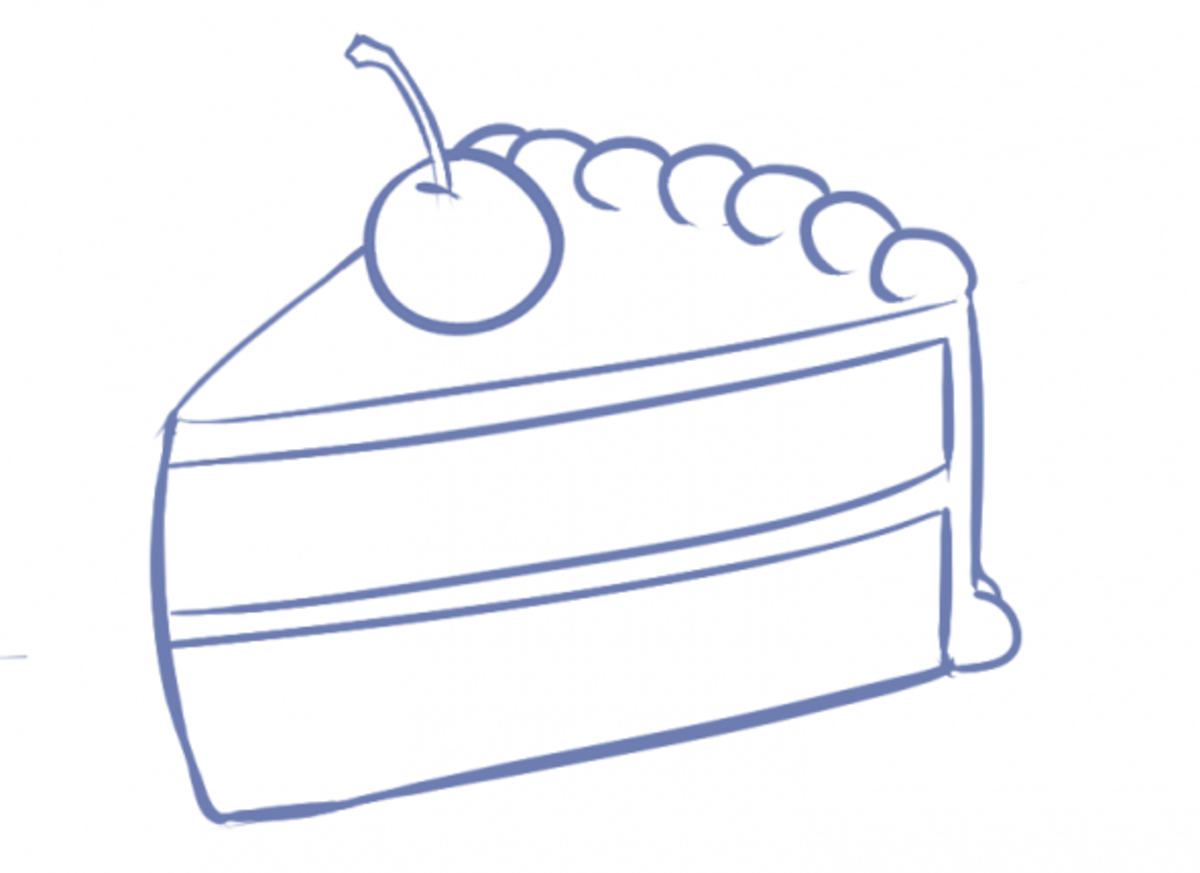 How to Draw Cake Step Five