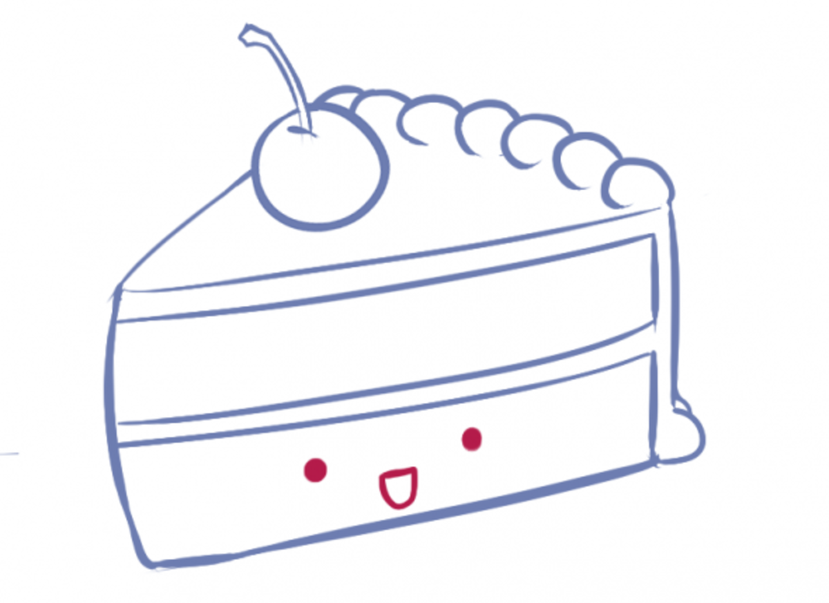 How to Draw Cake Step Six