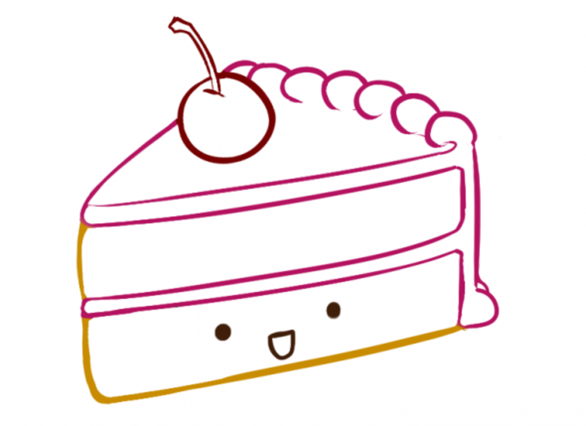 How to Draw Cake Step Seven