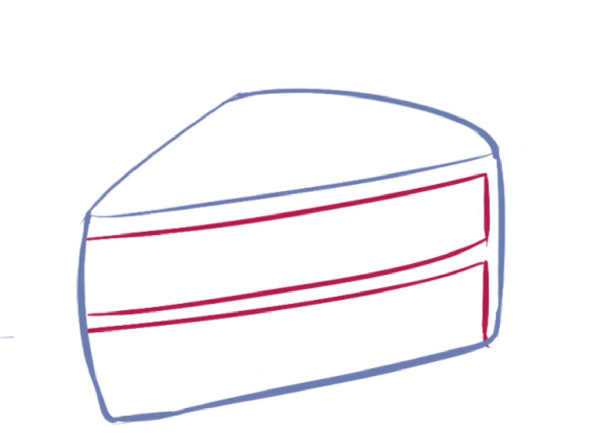 How to Draw Cake Step Two
