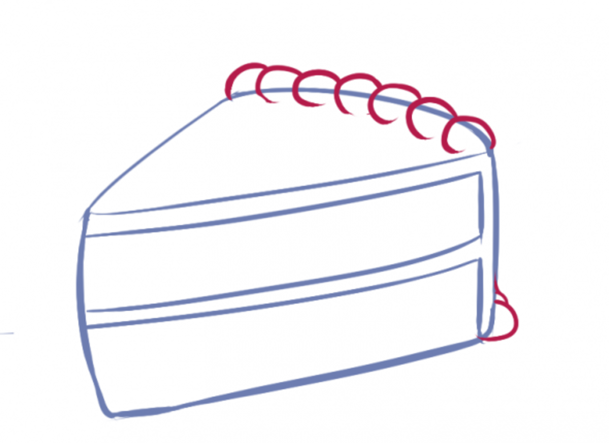 How to Draw Cake Step Three