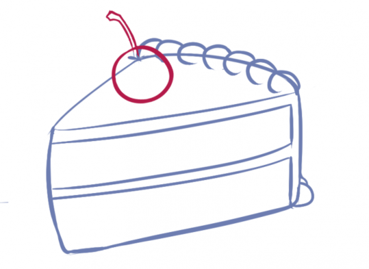 How to Draw Cake Step Four