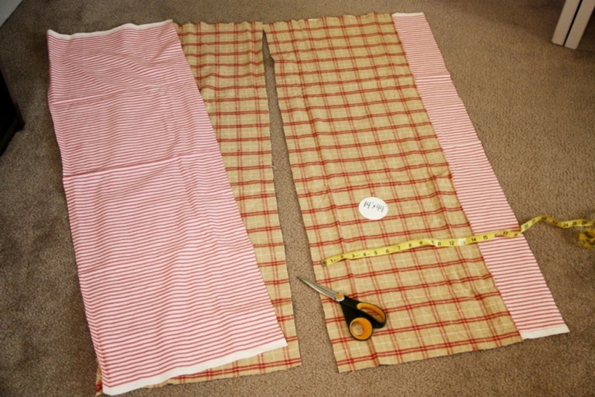 The picture shows enough fabric to make two walker bags.