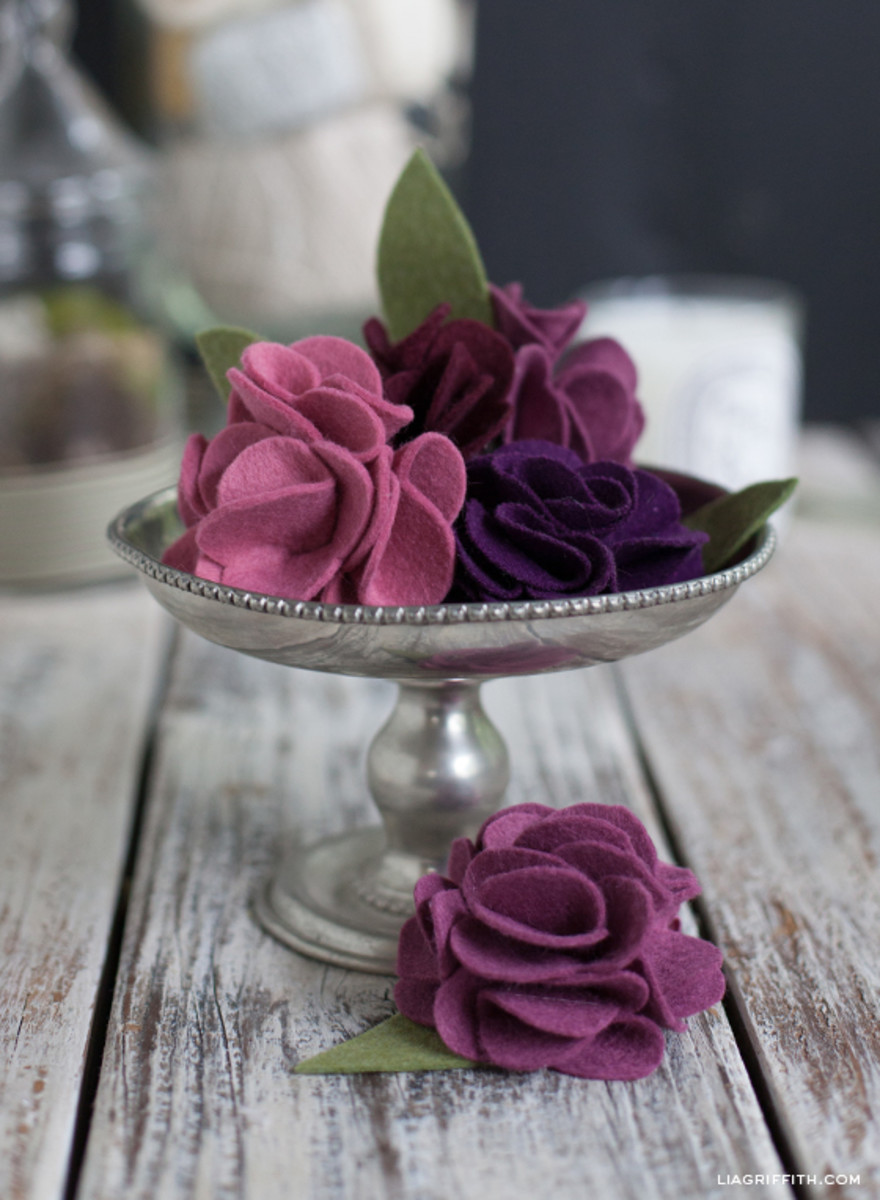 Exquisite Folded Felt Roses