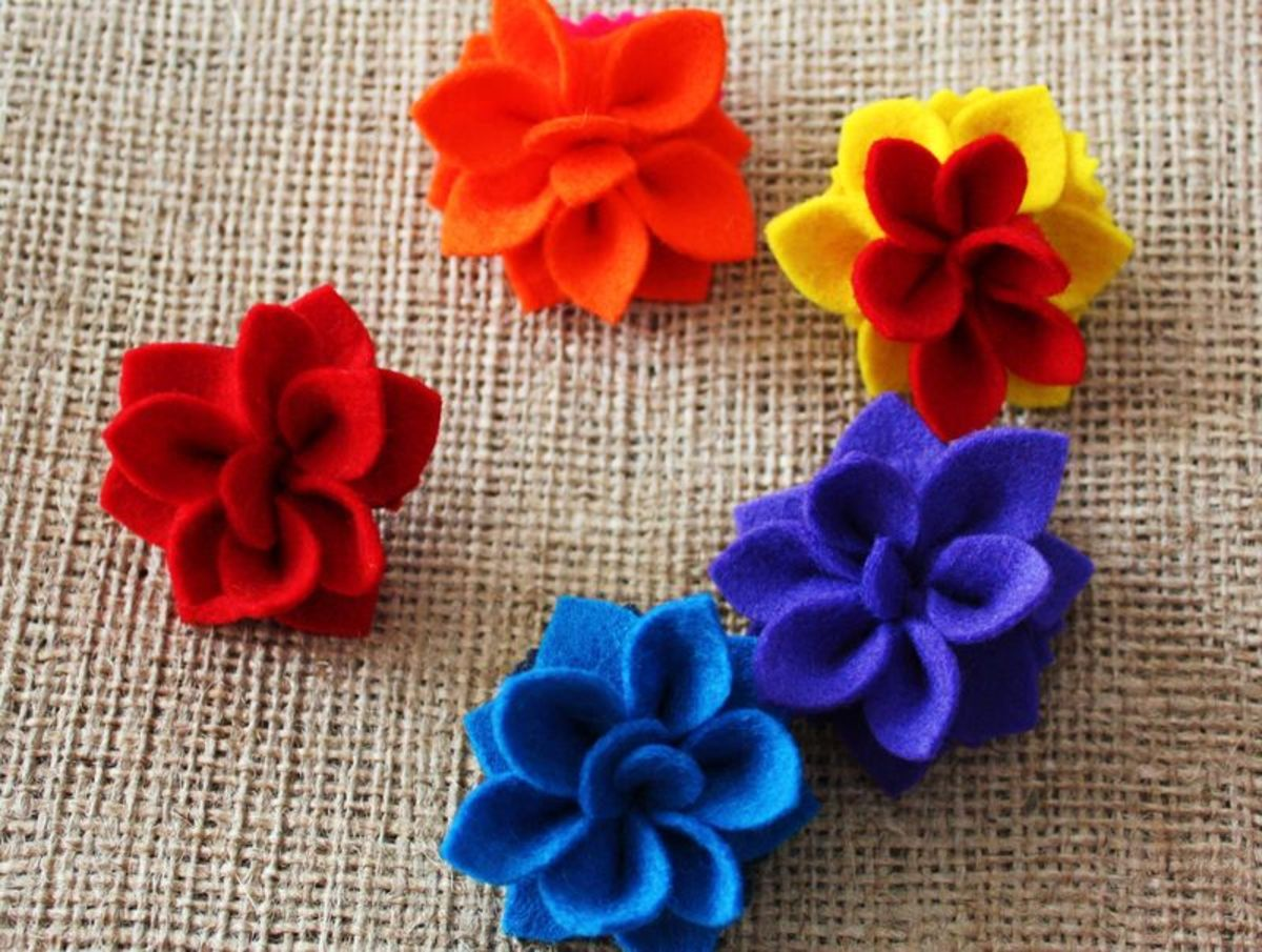 Learn How To Make Felt Flowers With Easy Tutorials Feltmagnet