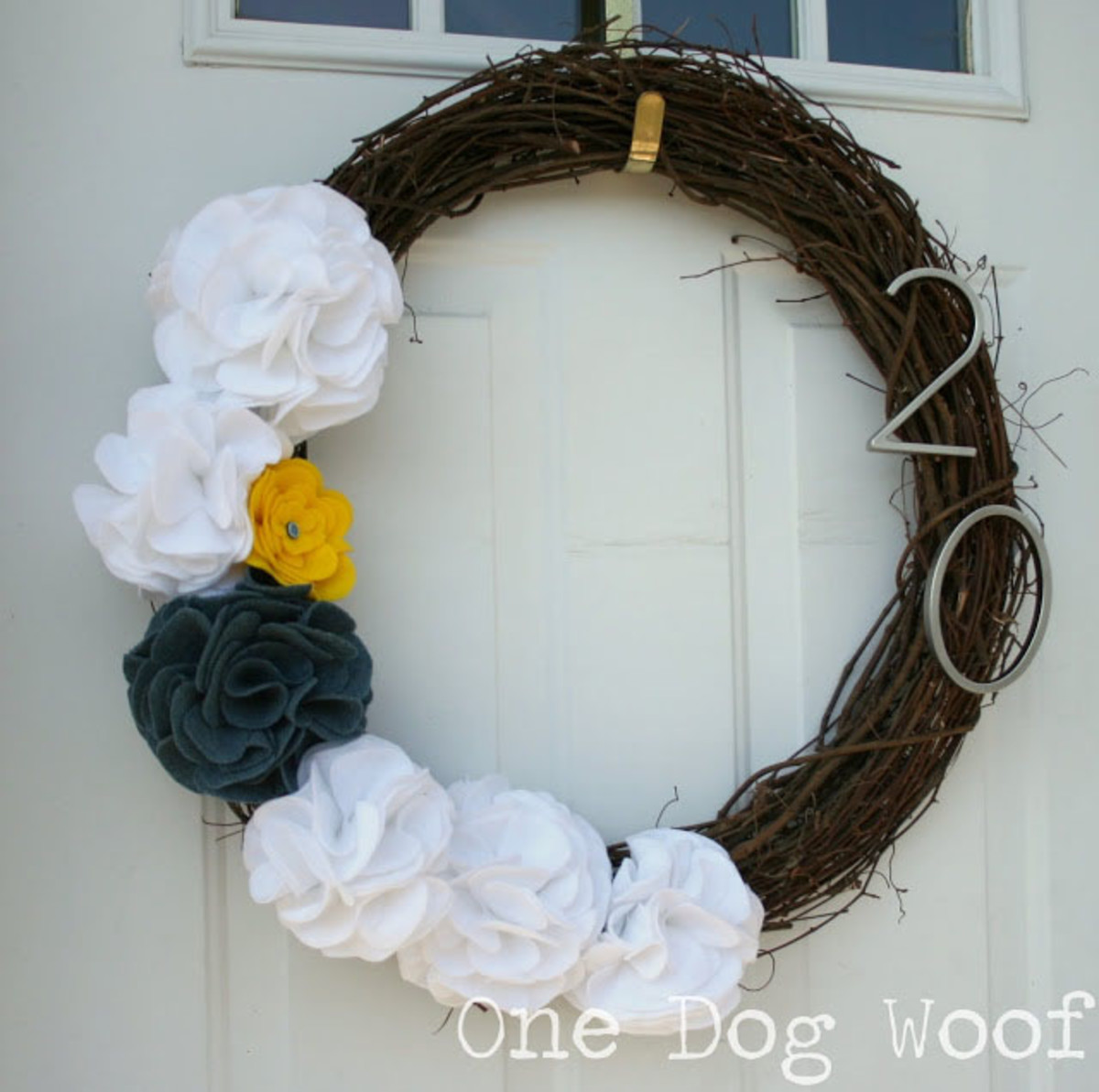 Large, Folded Flowers on Wreath