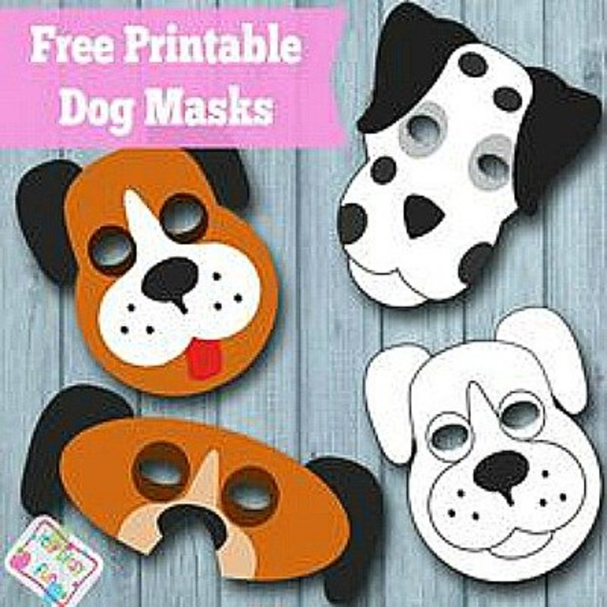 Youll Find The Printables To Make These Dog Masks At Firstpalette Kids Will Have A Blast Making And Wearing