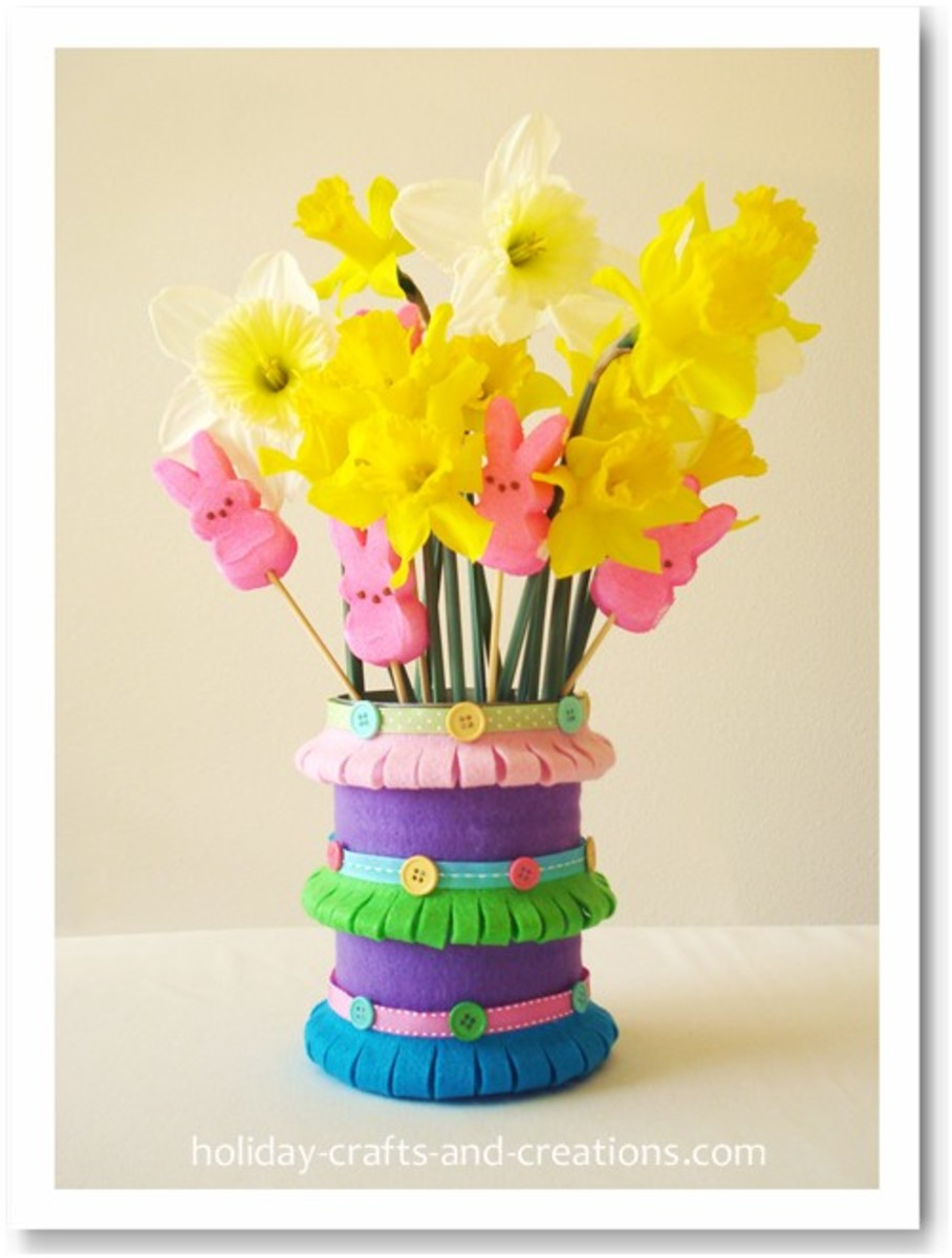 29 Easy and Entertaining Spring Craft Ideas for Kids   FeltMagnet Crafty Flower Vase on cheerful flowers, photography flowers, decorating flowers, reading flowers, awesome flowers, cute flowers, random flowers, chic flowers, artsy flowers, love flowers, knitting flowers,