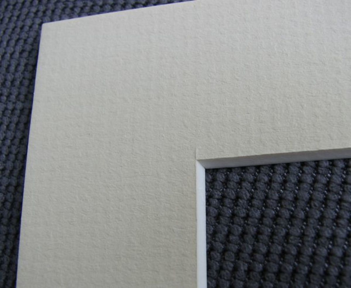 The inner mat, closest to the design. I chose a neutral cream - the main color in the fabric.