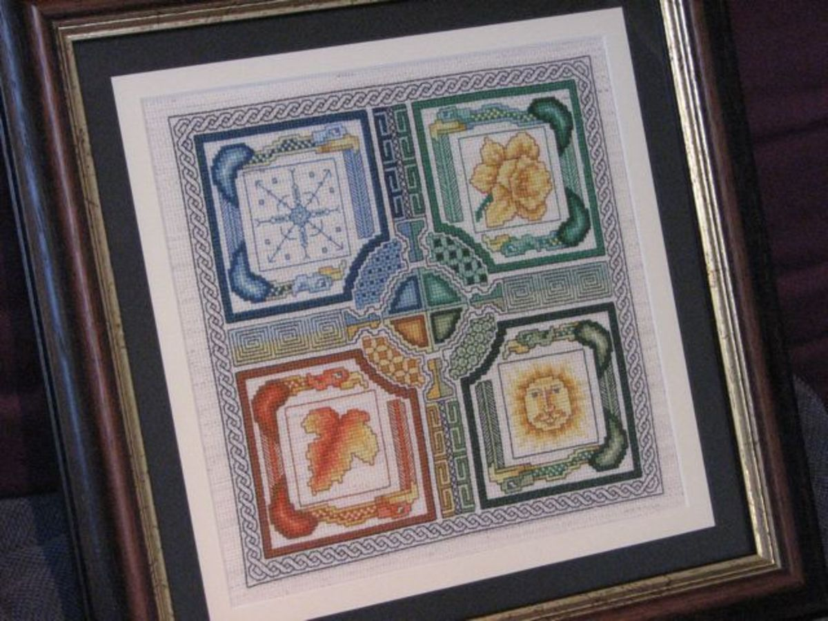 Finished, cleaned, laced and framed cross stitch. I'm so happy it is out of its dark box!