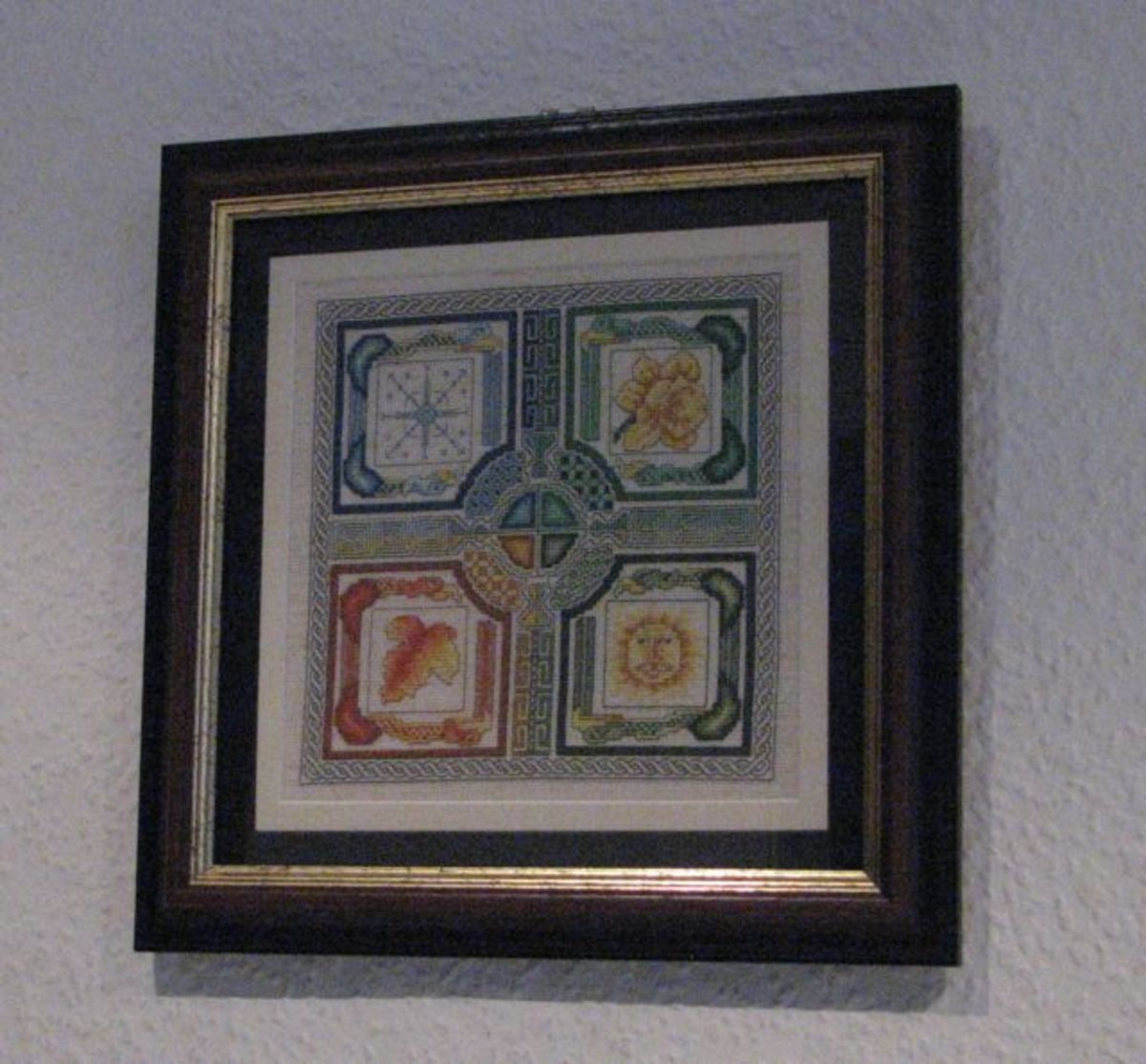 Cross stitch framing finished, now hanging!