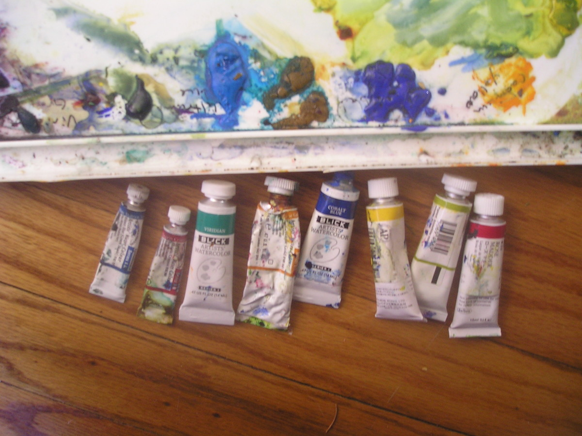 You don't need 20 paint tubes to get started, a few will do.