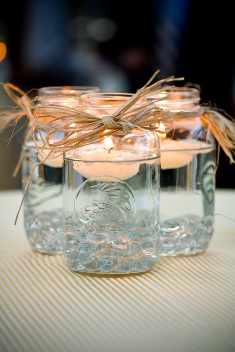 Mason Jar Floating Candle Holders