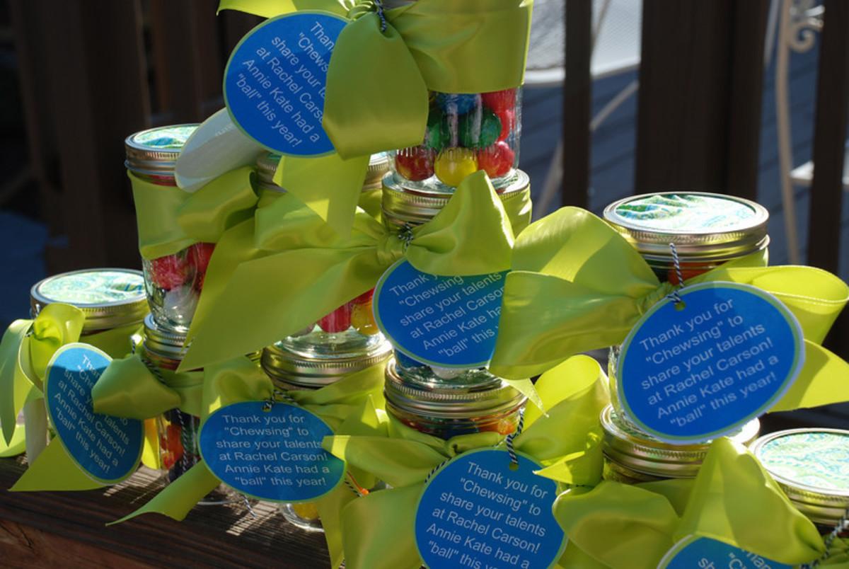 Mason Gumball Gift Jars