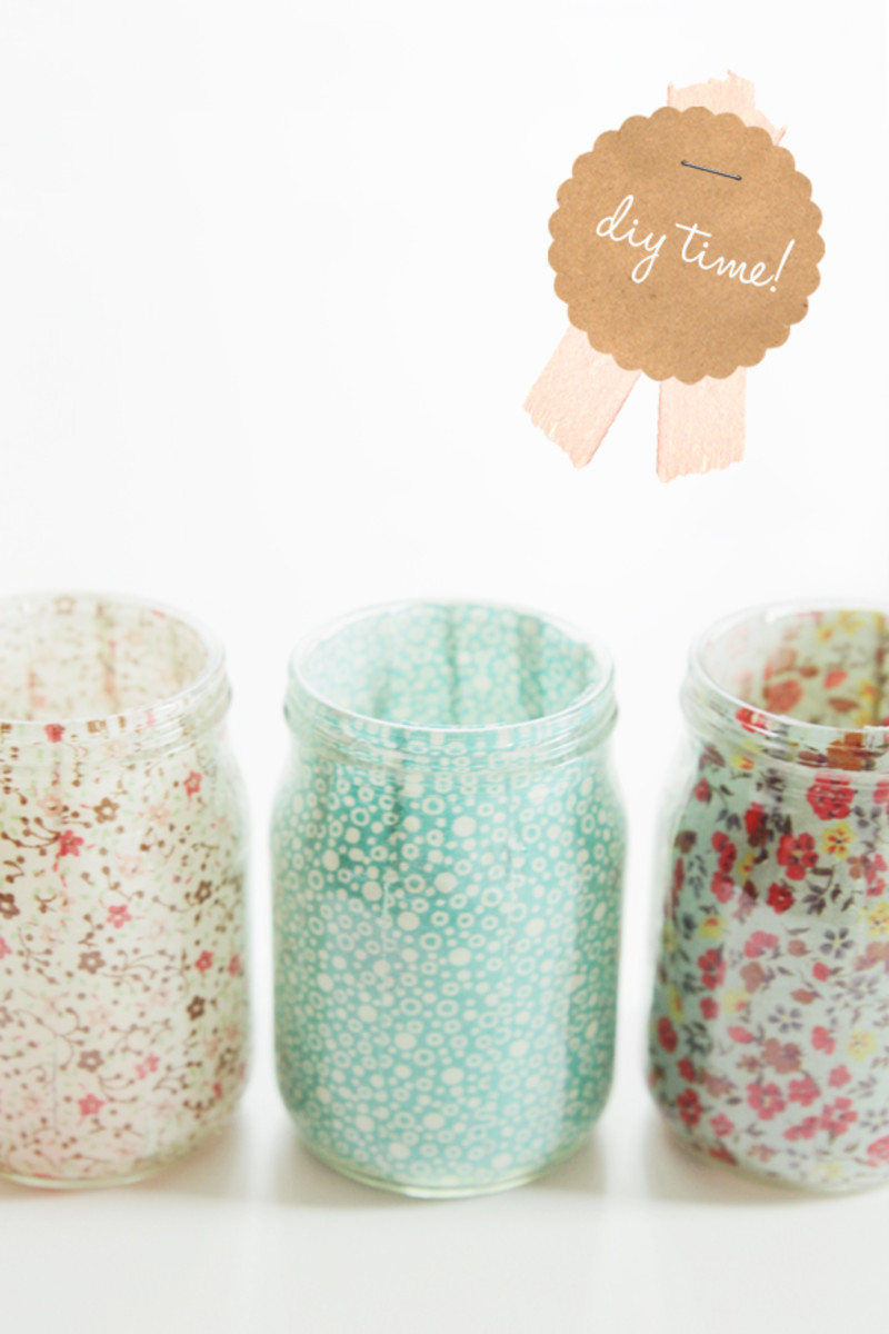 Fabric Covered Jar Votives