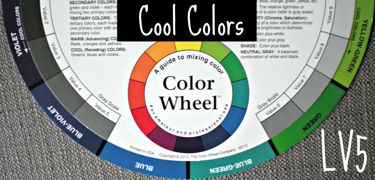 This half of the color wheel contains cool colors.