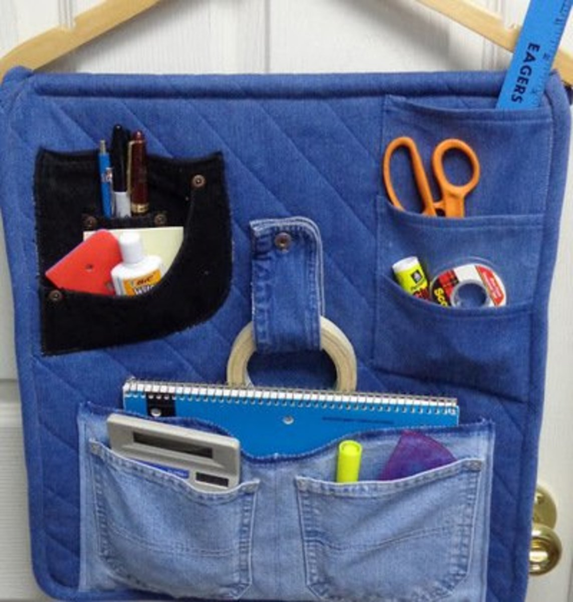 bef5b5a4ae Denim Basket. This would be a great gift to make for a high school graduate  to take along to college. So pretty and useful. The instructions for this  ...