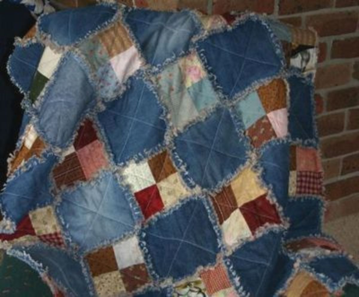No Sew Art Ideas With Old Jeans