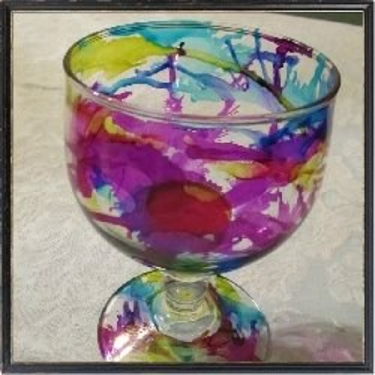 Alcohol Ink Designs on Glass