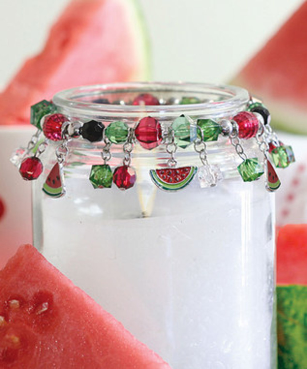 Measure and expand the wire for your project to make lovely rings to decorate mason jars.